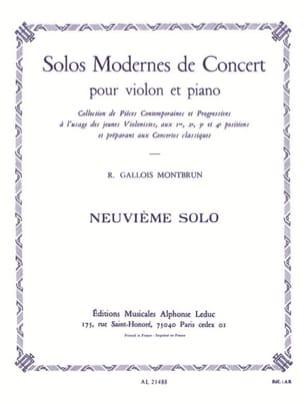 Solo de Concert n° 9 Raymond Gallois-Montbrun Partition laflutedepan