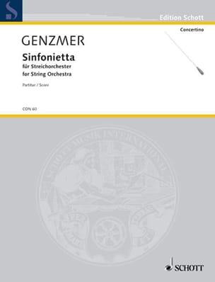 Sinfonietta Harald Genzmer Partition Grand format - laflutedepan