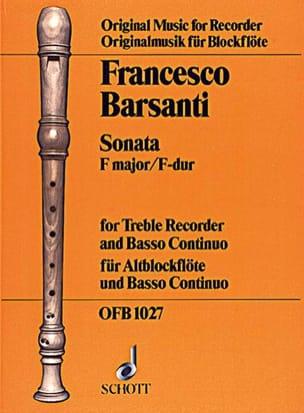 Sonata F-Dur - ALtblockflöte u. BC Francesco Barsanti laflutedepan