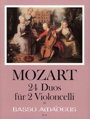 24 Duos für 2 Violoncelli MOZART Partition Violoncelle - laflutedepan
