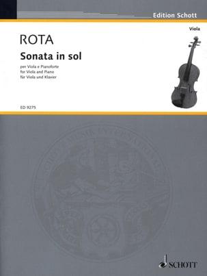 Sonata in Sol - Viola ROTA Partition Alto - laflutedepan