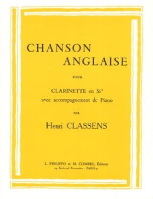 Chanson anglaise - CLASSENS - Partition - laflutedepan.com