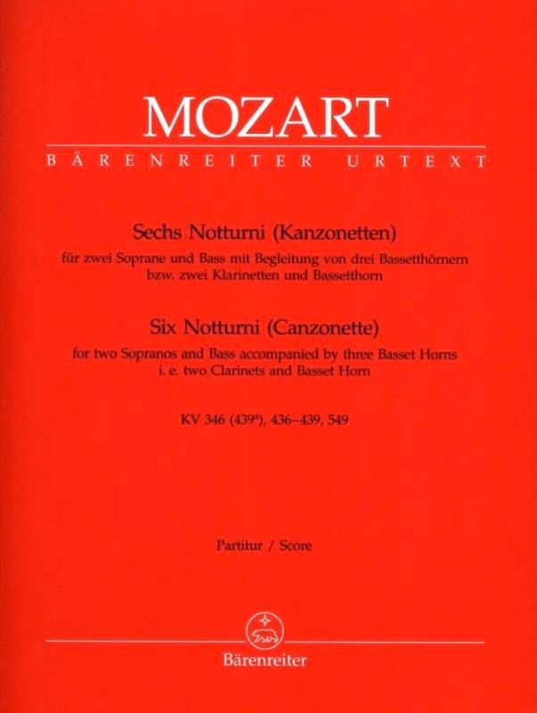 6 Notturni Kanzonetten - Partitur - MOZART - laflutedepan.com
