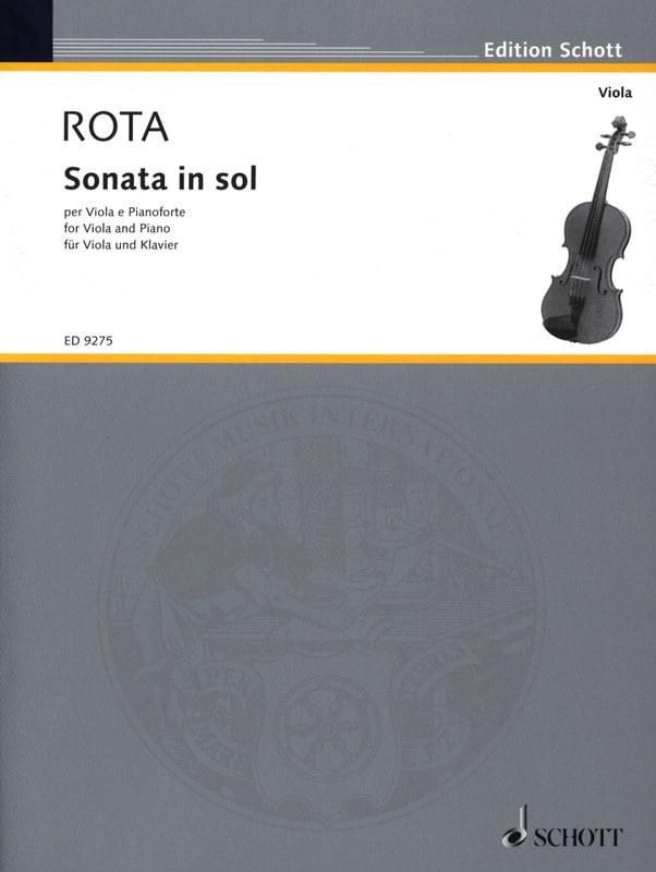 Sonata in Sol - Viola - ROTA - Partition - Alto - laflutedepan.com