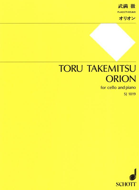 Orion - TAKEMITSU - Partition - Violoncelle - laflutedepan.com