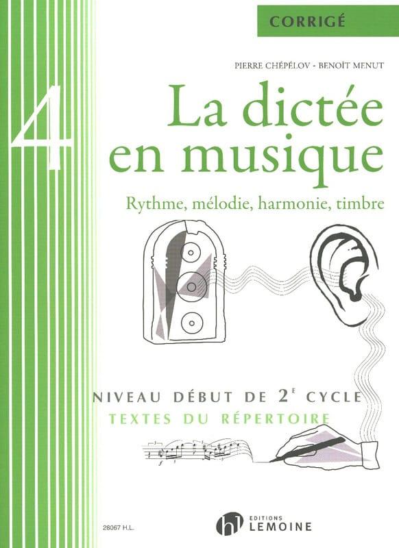 La Dictée en Musique - Corrigé - Volume 4 - laflutedepan.com