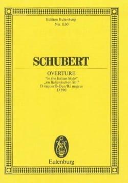 Ouvertüre D-Dur D 590 SCHUBERT Partition Petit format - laflutedepan