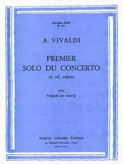 1er solo du Concerto en sol majeur VIVALDI Partition laflutedepan