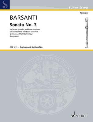 Sonata g-moll - Altblockflöte u. BC Francesco Barsanti laflutedepan