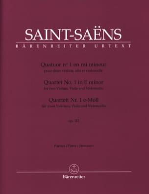 Quatuor n° 1 opus 112 - Parties séparées SAINT-SAËNS laflutedepan