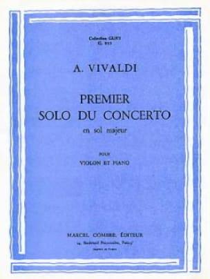 1er solo du Concerto en sol majeur - VIVALDI - laflutedepan.com