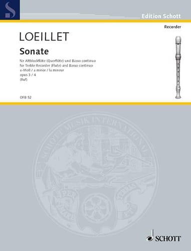 Sonate a-moll op. 3 n° 4 - Altblockflöte u. Bc - laflutedepan.com