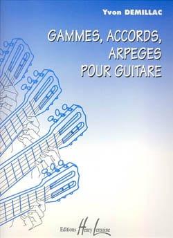 Gammes, accords, arpèges pour guitare Yvon Demillac laflutedepan
