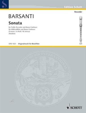 Sonata Nr. 1 d-moll - Altblockflöte Francesco Barsanti laflutedepan