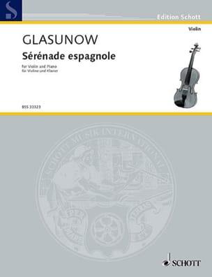 Sérénade espagnole Kreisler Alexandre Glazounov Partition laflutedepan