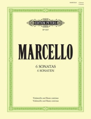 6 Sonaten Benedetto Marcello Partition Violoncelle - laflutedepan
