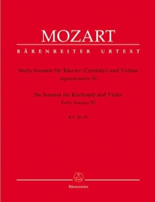 6 Sonaten - Jugendsonaten, Volume 3 KV 26-31 MOZART laflutedepan