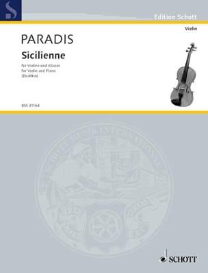 Sicilienne - Violine Maria Theresia von Paradis Partition laflutedepan
