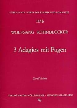 Adagios mit Fugen Wolfgang Schindlöcker Partition Alto - laflutedepan