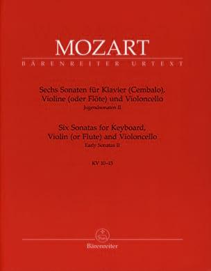 6 Sonates pour Piano, Violon , Violoncelle KV 10-15 laflutedepan
