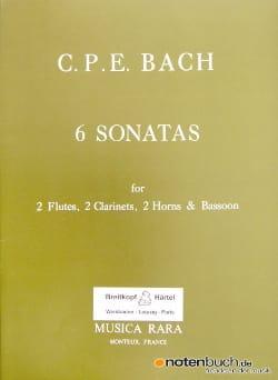 6 Sonatas - 2 Flûtes-2 Clarinettes-2 Cors-Basson laflutedepan