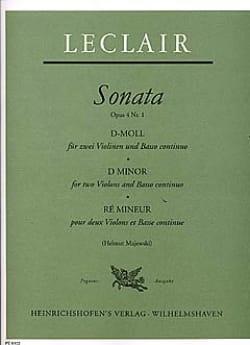 Sonate op. 4 n° 1 en ré mineur LECLAIR Partition Trios - laflutedepan