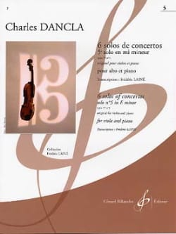 DANCLA - 5º Concierto Solo en mi menor op 77 n ° 1 - Alto - Partition - di-arezzo.es