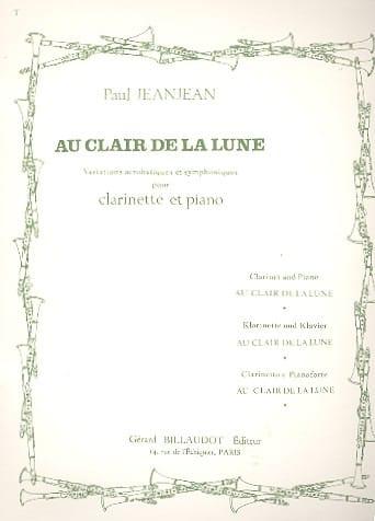 Au clair de la lune - Paul Jeanjean - Partition - laflutedepan.com