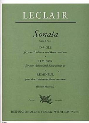 Sonate op. 4 n° 1 en ré mineur - LECLAIR - laflutedepan.com
