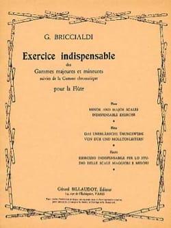 Exercice indispensable Giulio Briccialdi Partition laflutedepan