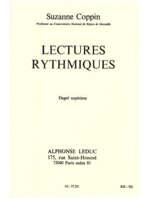Lectures rythmiques - Supérieur Suzanne Coppin Partition laflutedepan