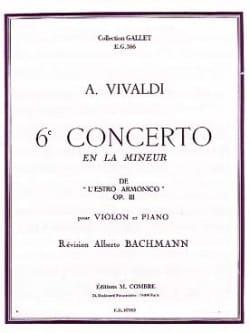 6ème Concerto Violon En la Mineur Op. 3 VIVALDI Partition laflutedepan