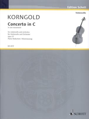 Concerto Violoncelle, do majeur op. 37 KORNGOLD Partition laflutedepan