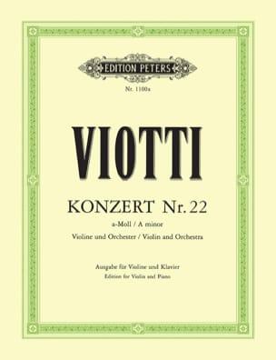 Giovanni Battista Viotti - Violin Concerto No. 22 a minor - Partition - di-arezzo.com