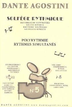 Solfège Rythmique - Cahier N° 5 Dante Agostini Partition laflutedepan