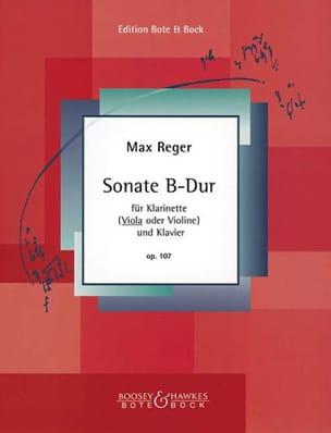 Sonate B-Dur op. 107 Max Reger Partition Alto - laflutedepan