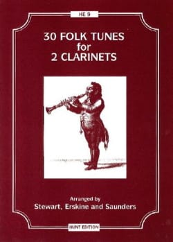 30 Folk tunes for 2 clarinets Partition Clarinette - laflutedepan