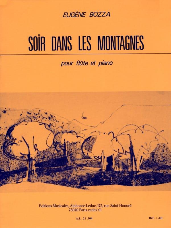 Soir dans les montagnes - Eugène Bozza - Partition - laflutedepan.com