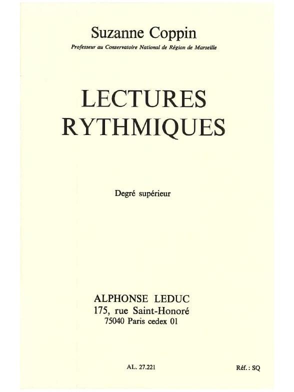 Lectures rythmiques - Supérieur - Suzanne Coppin - laflutedepan.com