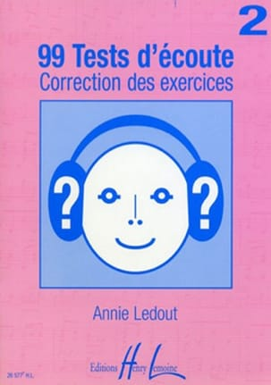99 Tests d'écoute - Corrigés - Volume 2 Annie Ledout laflutedepan