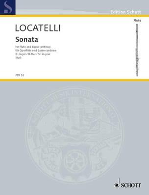 Sonate B-Dur - Flöte und Bc LOCATELLI Partition laflutedepan