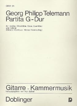 Partita G-Dur - Violine Gitarre - TELEMANN - laflutedepan.com