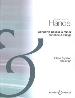 Concerto n° 3 HAENDEL Partition Hautbois - laflutedepan
