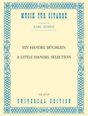 Ein Händel Büchlein - HAENDEL - Partition - Guitare - laflutedepan.com