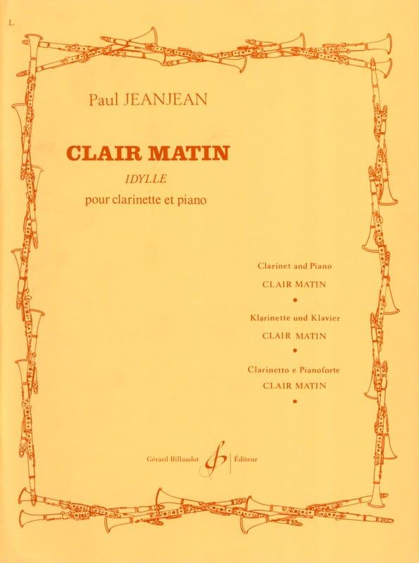 Clair matin - Paul Jeanjean - Partition - laflutedepan.com