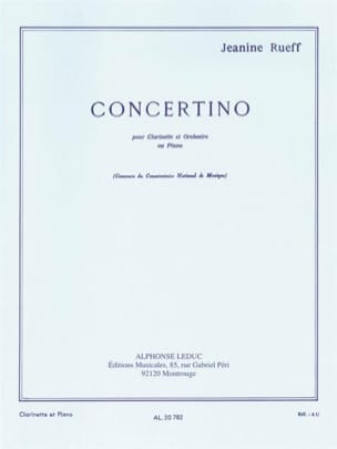 Concertino op. 15 Jeanine Rueff Partition Clarinette - laflutedepan