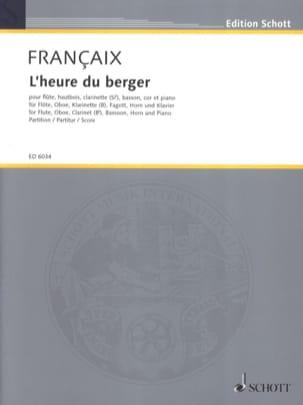 L'heure du berger - 5 vents, piano - Score FRANÇAIX laflutedepan