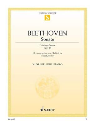 Sonate op. 24 F-Dur Frühlings-Sonate BEETHOVEN Partition laflutedepan