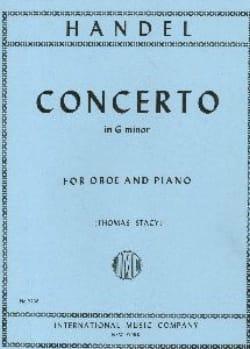 Concerto in G minor - Oboe piano HAENDEL Partition laflutedepan