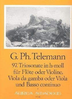 Triosonate Nr. 97 h-moll -Flöte Violine Viola da gamba Viola u. Bc - laflutedepan.com